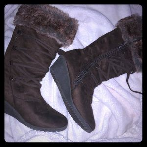 Cute brown winter boots
